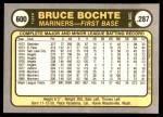1981 Fleer #600  Bruce Bochte  Back Thumbnail