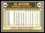1981 Fleer #626  Al Oliver  Back Thumbnail