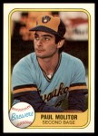 1981 Fleer #515  Paul Molitor  Front Thumbnail