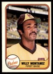 1981 Fleer #506  Willie Montanez  Front Thumbnail