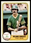 1981 Fleer #585  Orlando Gonzalez  Front Thumbnail