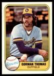 1981 Fleer #507  Gorman Thomas  Front Thumbnail
