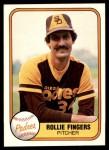1981 Fleer #485  Rollie Fingers  Front Thumbnail