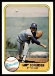 1981 Fleer #519  Lary Sorensen  Front Thumbnail