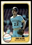 1981 Fleer #612  Kim Allen  Front Thumbnail