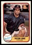 1981 Fleer #407  Victor Cruz  Front Thumbnail