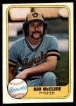 1981 Fleer #520  Bob McClure  Front Thumbnail