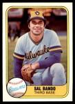 1981 Fleer #510  Sal Bando  Front Thumbnail