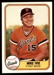 1981 Fleer #435  Mike Ivie  Front Thumbnail