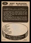 1965 Topps #24  Mike McMahon  Back Thumbnail