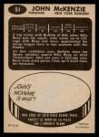1965 Topps #94  John McKenzie  Back Thumbnail