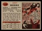 1957 Topps #128  Lenny Moore  Back Thumbnail