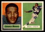 1957 Topps #128  Lenny Moore  Front Thumbnail