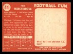 1958 Topps #44  Ted Marchibroda  Back Thumbnail