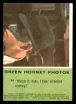 1966 Donruss Green Hornet #26   I hear someone coming Back Thumbnail