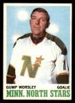 1970 O-Pee-Chee #40  Gump Worsley  Front Thumbnail