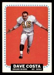 1964 Topps #134  Dave Costa  Front Thumbnail