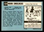 1964 Topps #124  Mark Smolinski  Back Thumbnail