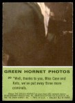 1966 Donruss Green Hornet #20   Well thanks to you Back Thumbnail