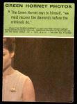 1966 Donruss Green Hornet #5   Green Hornet recovering diamonds Back Thumbnail