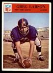 1966 Philadelphia #124  Greg Larson  Front Thumbnail