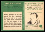 1966 Philadelphia #10  Bob Richards  Back Thumbnail