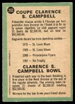 1970 O-Pee-Chee #263   Clarence S. Campbell Bowl Back Thumbnail