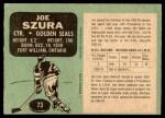 1970 O-Pee-Chee #73  Joe Szura  Back Thumbnail