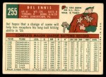 1959 Topps #255  Del Ennis  Back Thumbnail