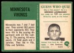 1966 Philadelphia #105   Vikings Team Back Thumbnail