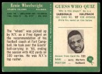 1966 Philadelphia #12  Ernie Wheelwright  Back Thumbnail