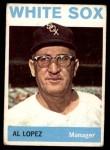 1964 Topps #232  Al Lopez  Front Thumbnail
