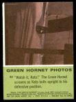 1966 Donruss Green Hornet #32   Watch it Kato Back Thumbnail