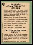 1970 O-Pee-Chee #258   Calder Trophy Back Thumbnail