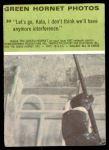 1966 Donruss Green Hornet #30   Let's go Kato Back Thumbnail