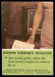 1966 Donruss Green Hornet #35   Kato rushes to aid Green Hornet Back Thumbnail