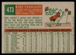 1959 Topps #473  Mike Fornieles  Back Thumbnail