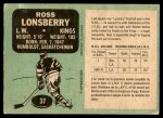 1970 O-Pee-Chee #37  Ross Lonsberry  Back Thumbnail