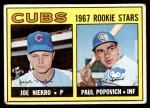 1967 Topps #536   -  Joe Niekro / Paul Popovich Cubs Rookies Front Thumbnail