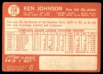 1964 Topps #158  Ken Johnson  Back Thumbnail
