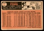 1966 Topps #160  Whitey Ford  Back Thumbnail