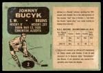 1970 O-Pee-Chee #2  Johnny Bucyk  Back Thumbnail