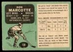 1970 O-Pee-Chee #138  Don Marcotte  Back Thumbnail