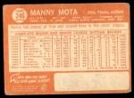 1964 Topps #246  Manny Mota  Back Thumbnail