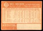 1964 Topps #273  Mel Nelson  Back Thumbnail