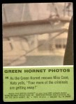1966 Donruss Green Hornet #36   Green Hornet rescues Miss Case Back Thumbnail