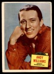 1957 Topps Hit Stars #55  Andy Williams   Front Thumbnail