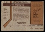 1973 O-Pee-Chee #231  Jim Peters  Back Thumbnail