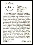 1976 SSPC #1  Buzz Capra  Back Thumbnail