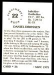 1976 SSPC #36  Dan Driessen  Back Thumbnail